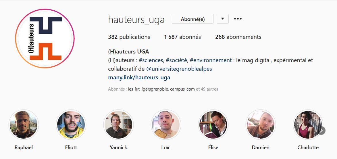 Compte instagram du magazine Hauteurs