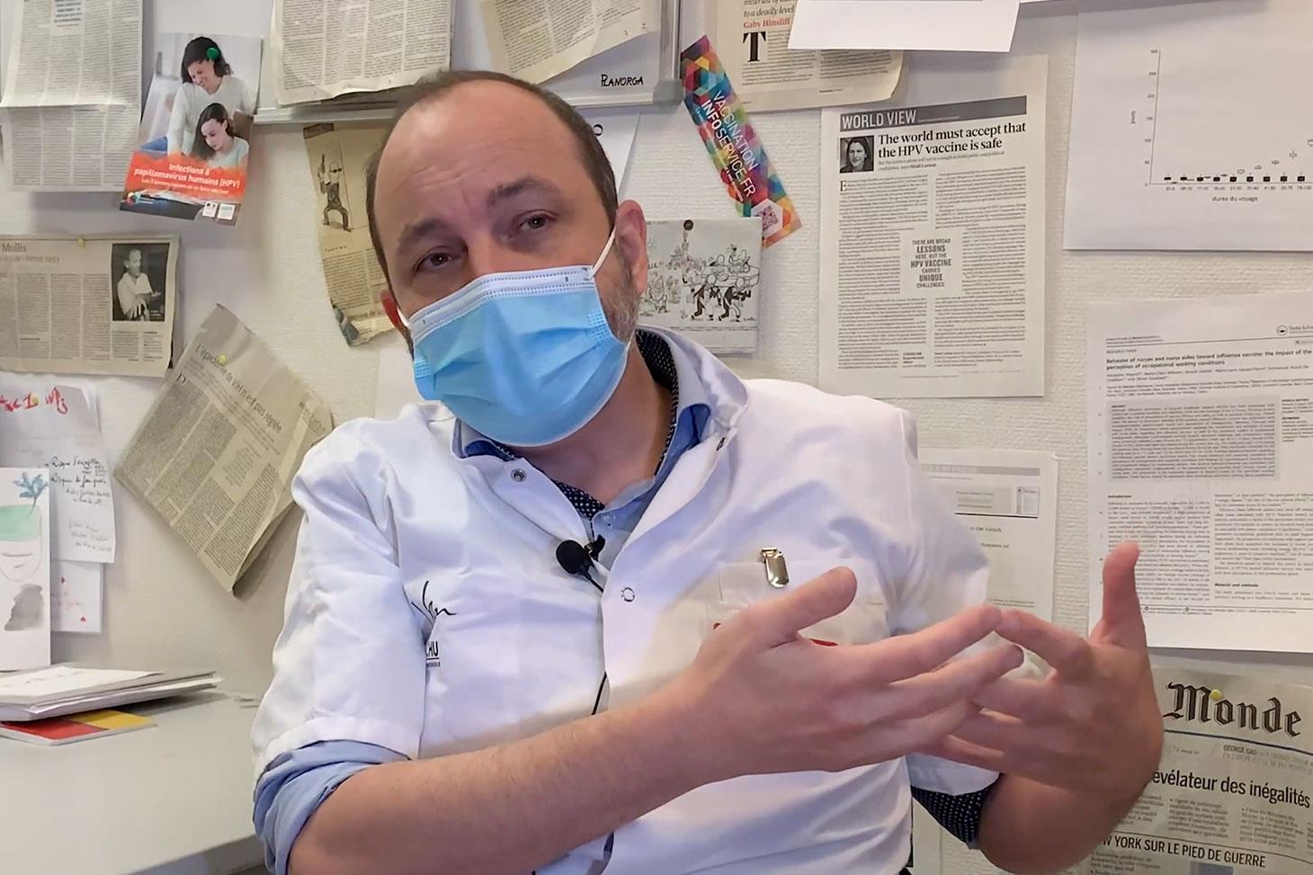 Le professeur Epaulard, spécialiste des maladies infectieuses au CHU Grenoble-Alpes.