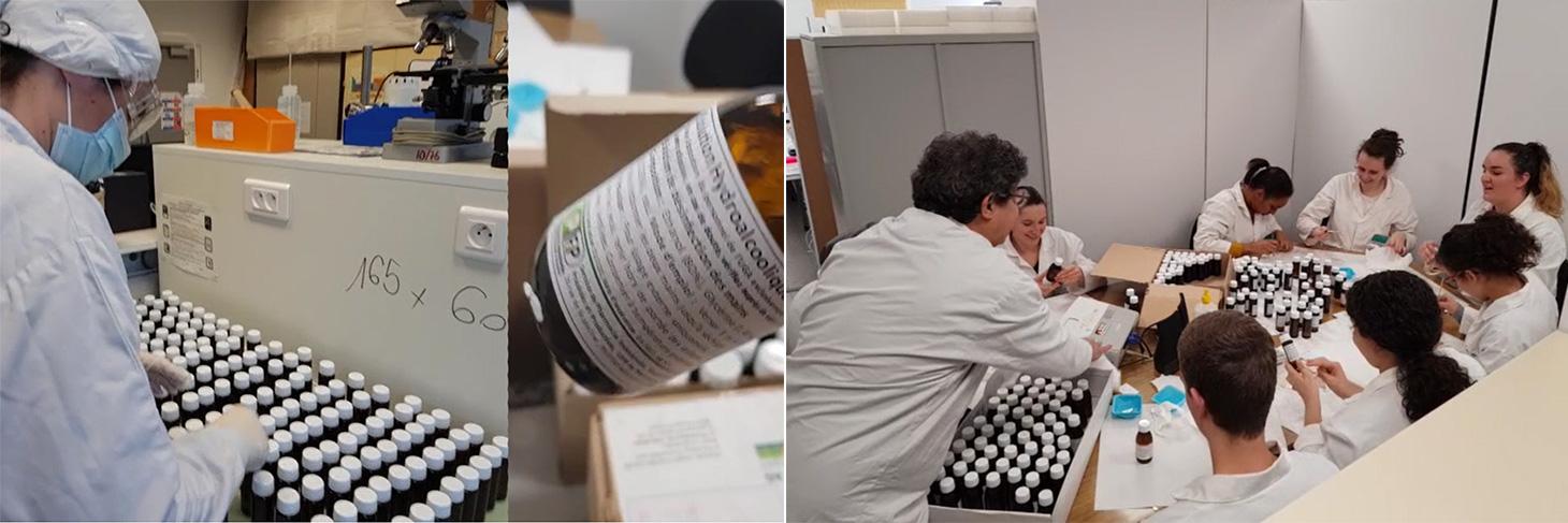 Production de solution hydro-alcoolique sur la plateforme pédagogique PIF2P